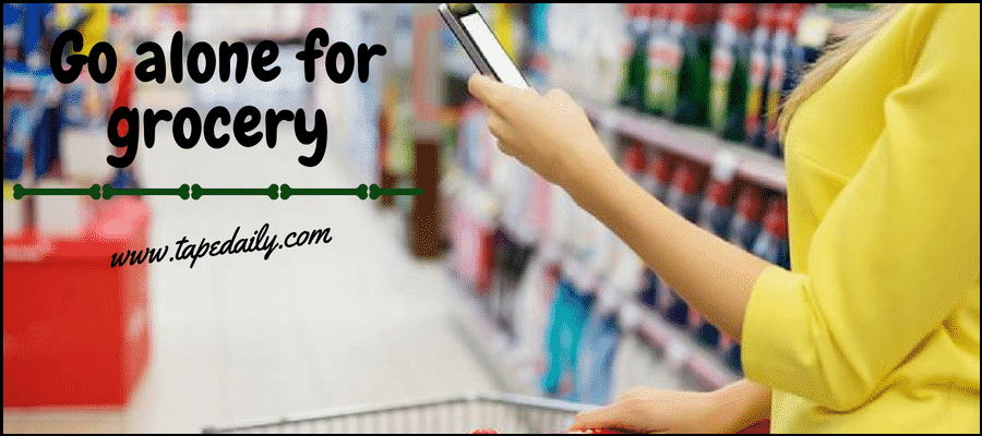 Go alone for grocery