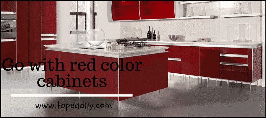 Go with red color cabinets