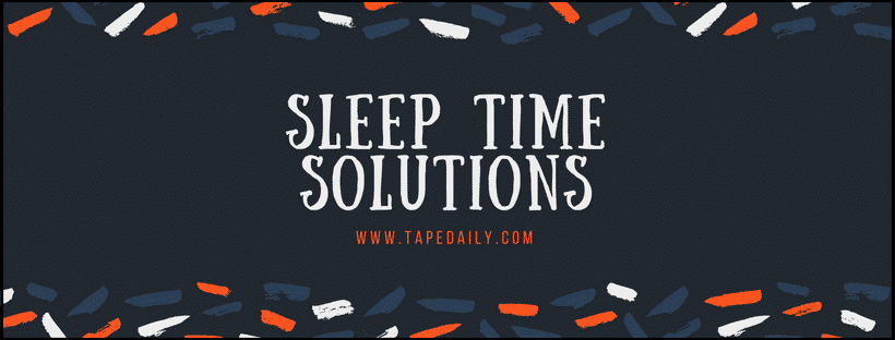 Sleep Time Solutions For Snoring