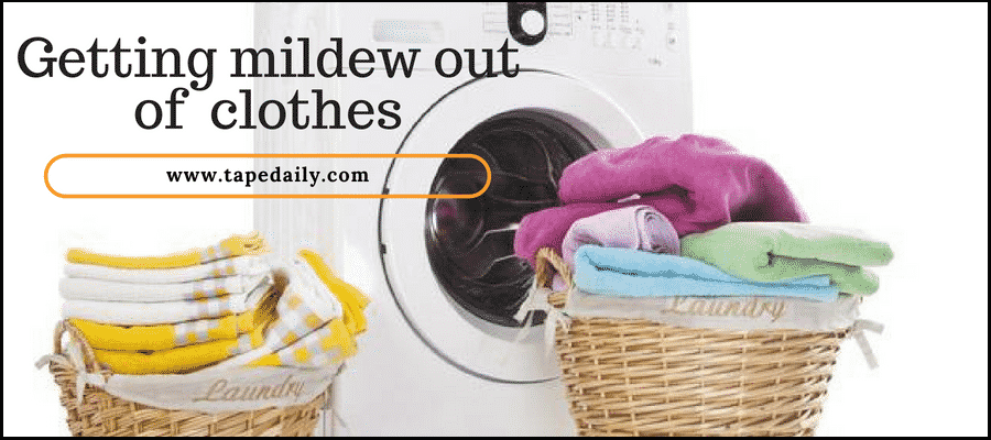 getting mildew out of clothes