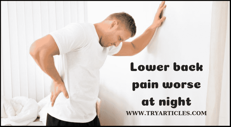 lower back pain at night