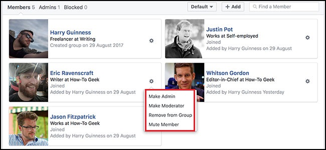 how to add an Admin to a Facebook Group