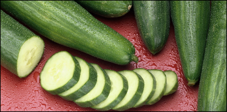 Cucumber slices for swelling
