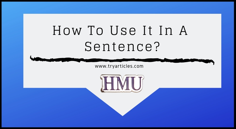 How To Use It In A Sentence