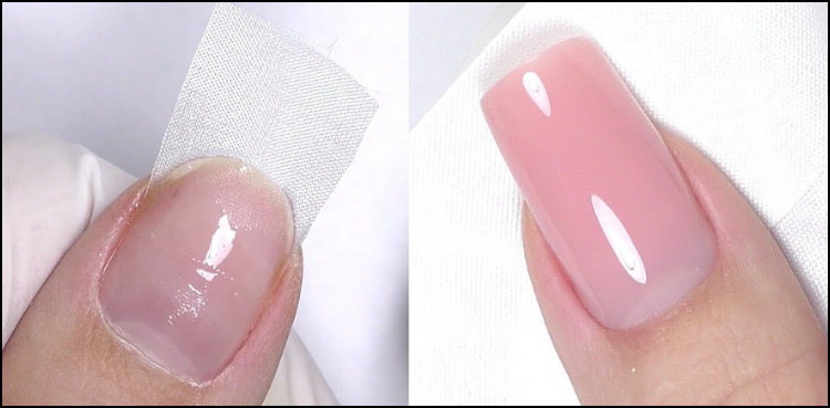 how to repair a broken nail using silk wrap