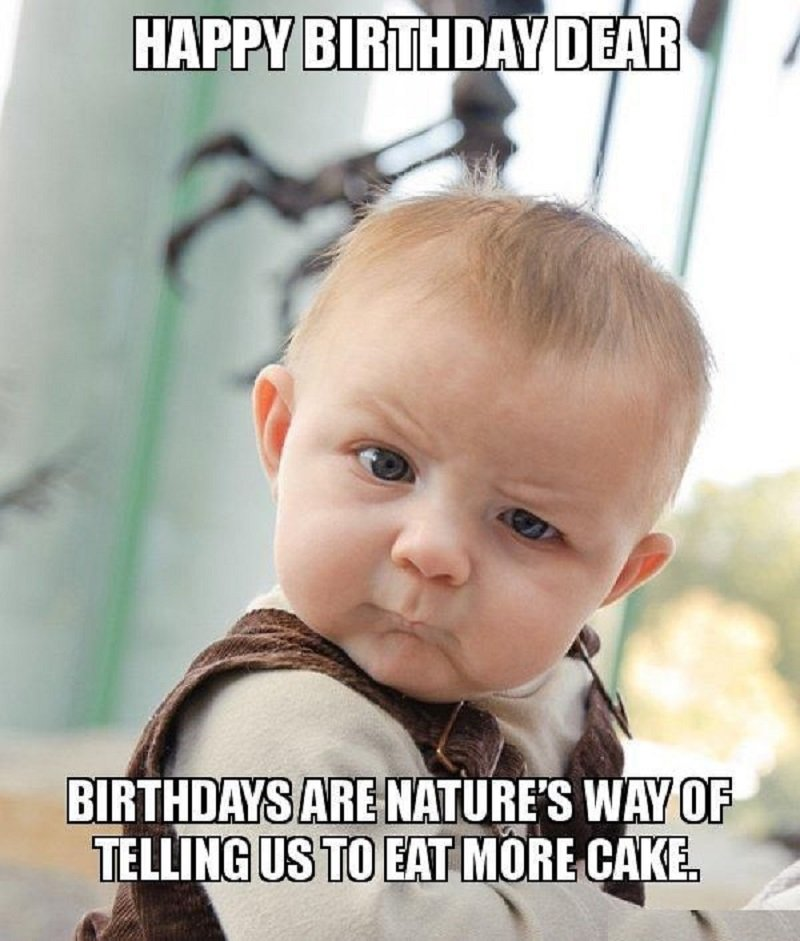 cute happy birthday meme for her