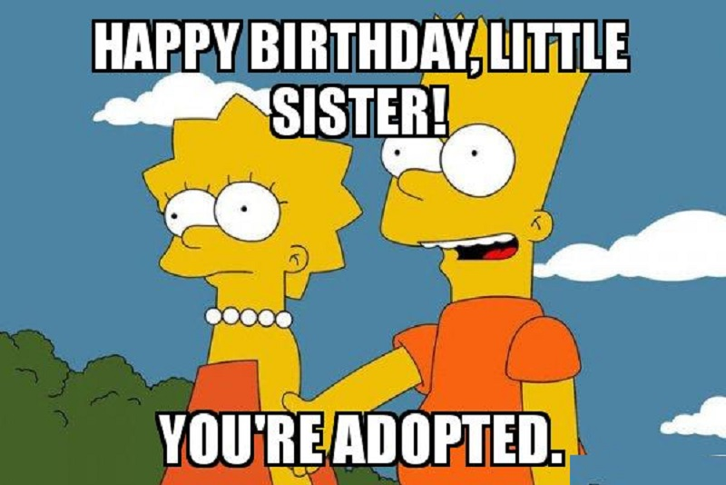happy birthday sister in law meme funny