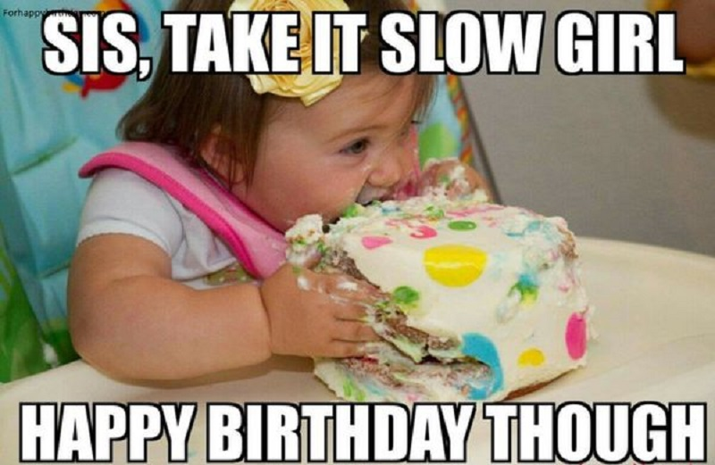 happy birthday little sister funny meme