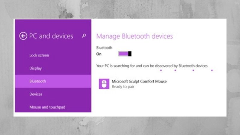 bluetooth for pc: pairing windows 8