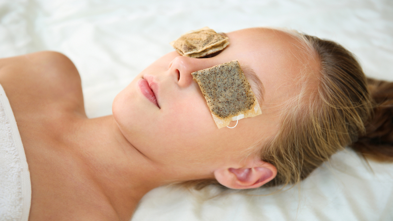 Tea Bags, how to get rid of bags under eyes