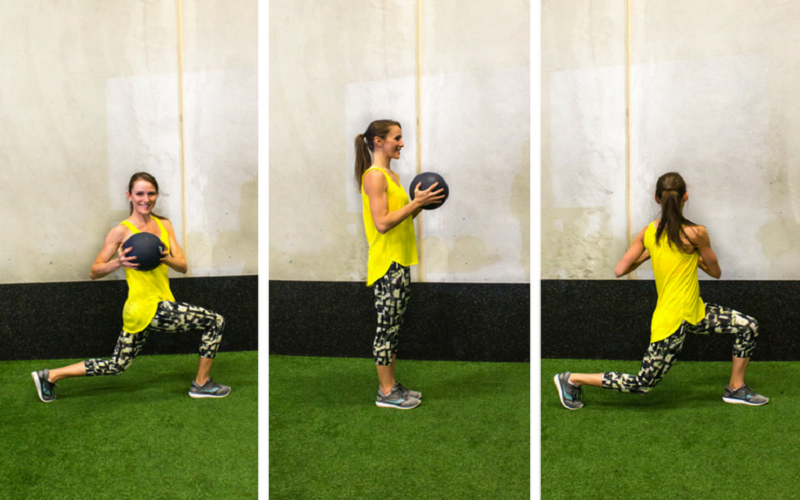 Medicine Ball Side Lunge, how to get rid of inner thigh fat